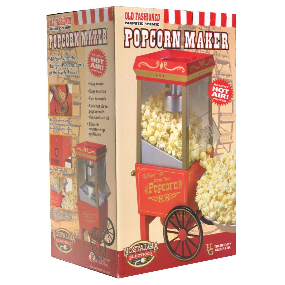 old fashioned movie time popcorn maker instructions