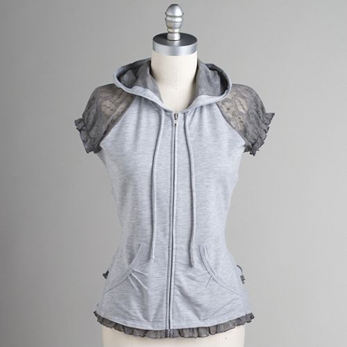Miss Chievous Lace Ruffle Hoodie $ 14.99