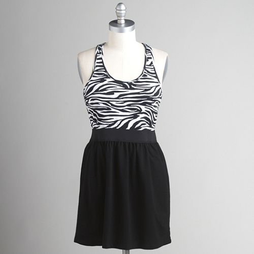 Miss Chievous Zebra Print Racerback Dress $ 14.99