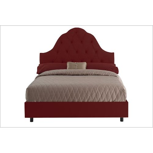 Tufted High Arch California King Bed - Sangria $ 674.99