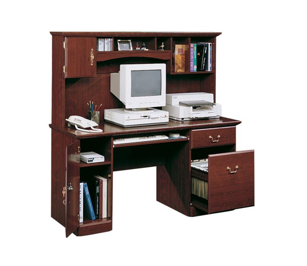Computer Desk Hutch on Sauder Heritage Hill Computer Desk With Hutch