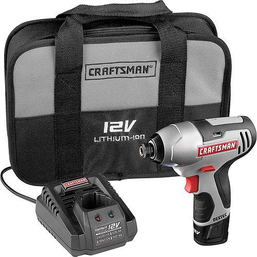 Craftsman 17428 Nextec 12-volt Cordless Compact 1/4' Impact Driver $ 104.49