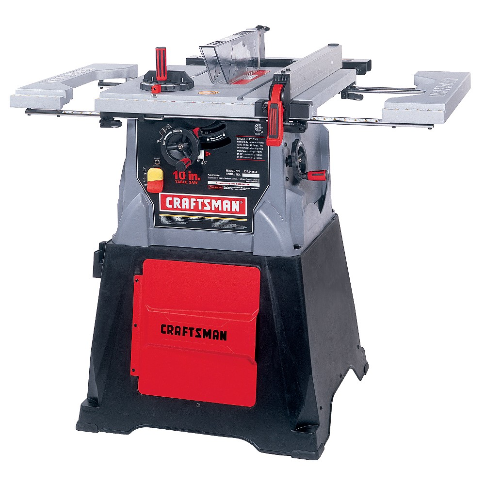Sears craftsman 10 in table saw storage cabinet power for 10 in table saw craftsman
