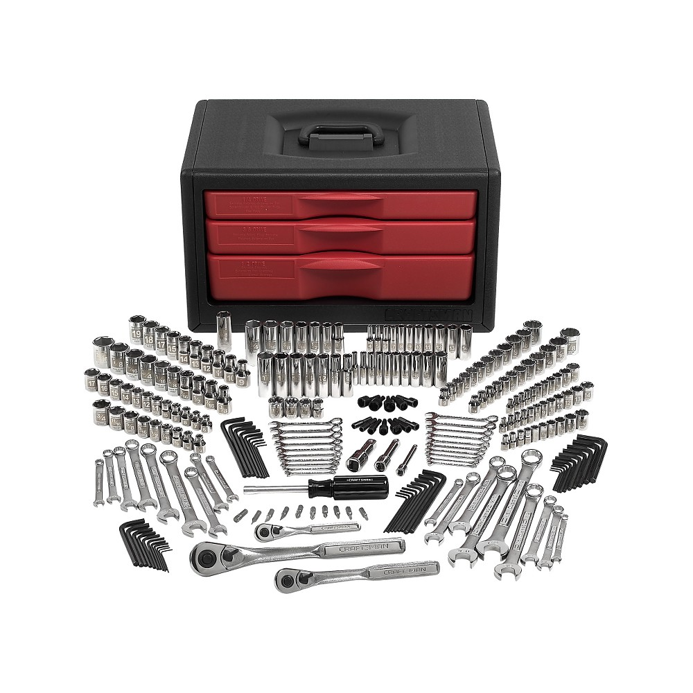 Craftsman 245 pc mechanics tool set with easy to read sockets in use coupon code sdeals207 for an addition 5 off fandeluxe Choice Image