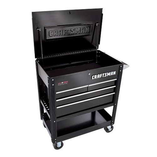 Craftsman 38' 4-Drawer Ball-Bearing GRIPLATCH Utility Cart - Black $ 499.99