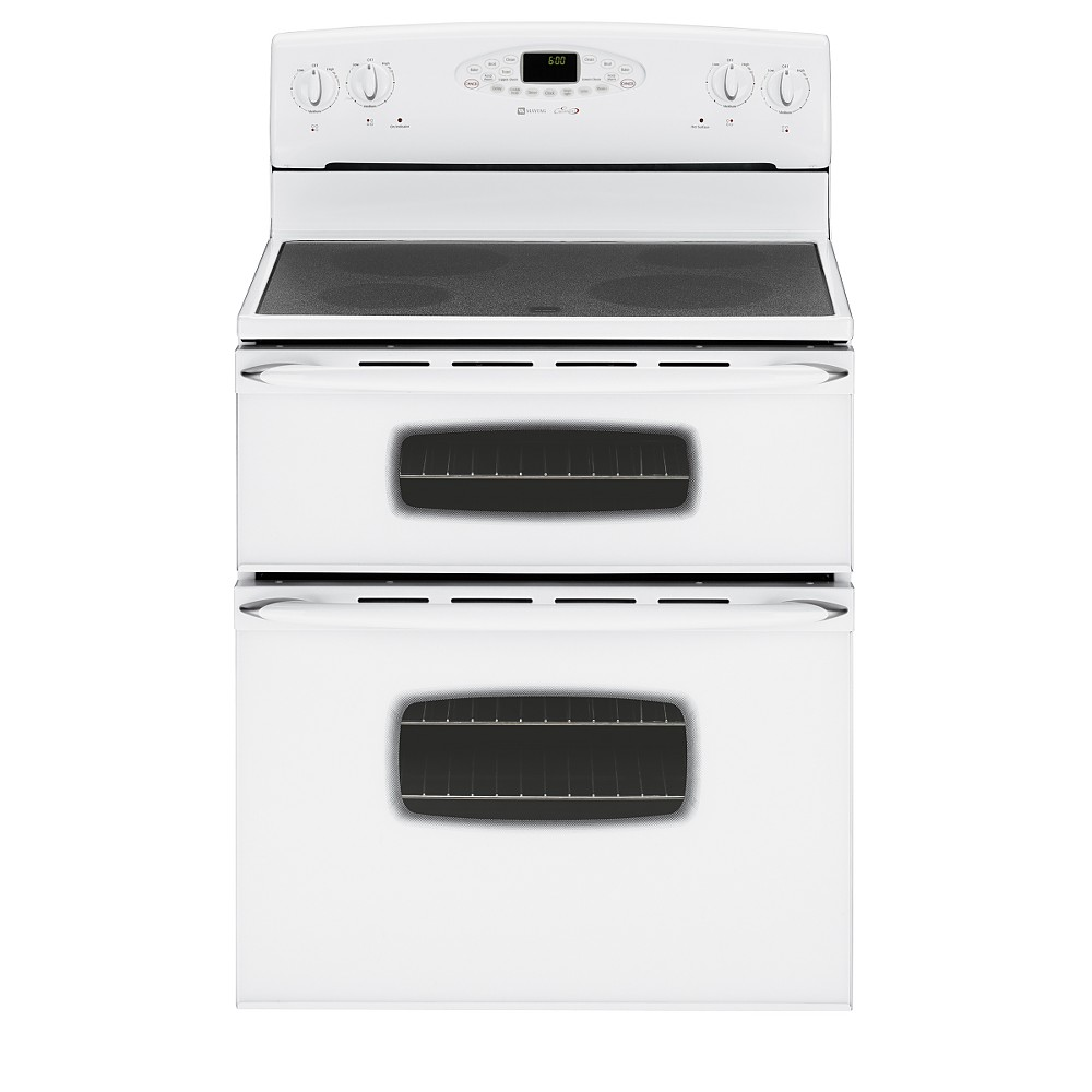 double oven white free standing stove