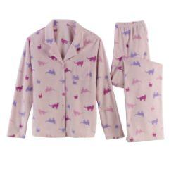 Pink K Women's Microfleece Pajama Set - Model 75316415 at Kmart.com