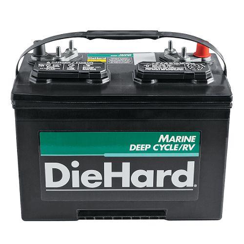DieHard Marine Deep Cycle/RV Battery, Group Size 27M $ 89.99