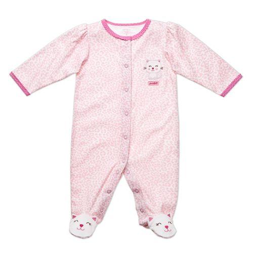 Carter's Newborn Girl's Kitty Footed Sleep & Play $ 7.98