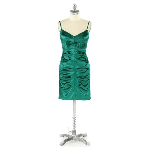 Bee Darlin Stretch Satin Sheath Bow Waist $ 27.99