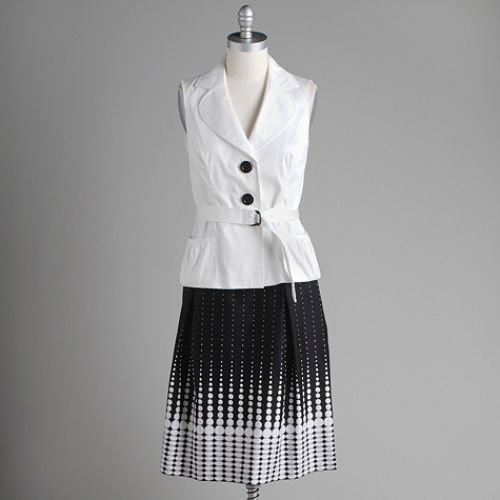 Studio 1 Sleeveless Jacket Print Skirt $ 39.99