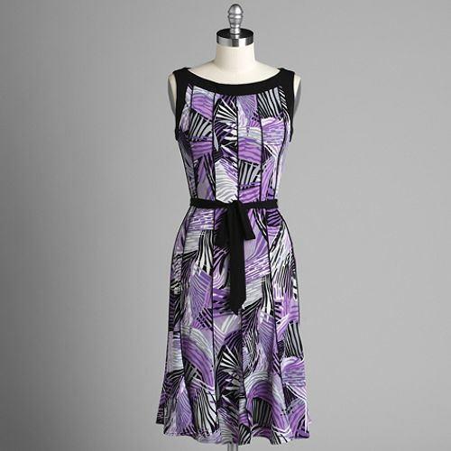 Studio 1 Sleeveless Print Jersey Dress $ 39.99
