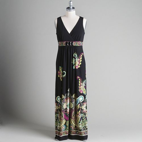 Studio 1 V-Neck Maxi Dress with Paisley Print $ 49.99