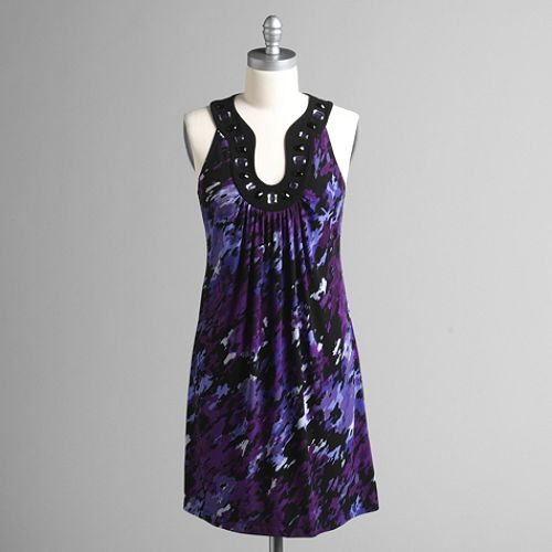 Studio 1 Embellished Neck Sleeveless Dress $ 49.99