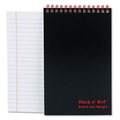 Black n' Red Headbound Twinwire Notebooks $ 3.59