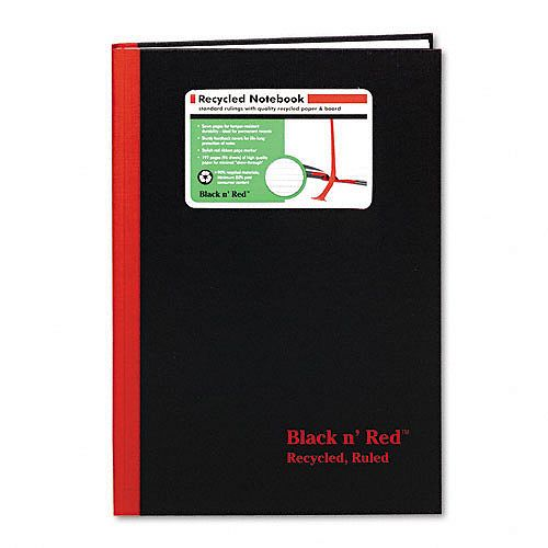 Black n' Red Recycled Casebound Notebook, Ruled, 96 Sheets $ 10.19