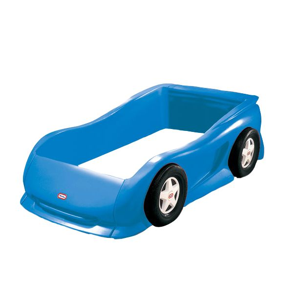 little tikes blue toddler car bed