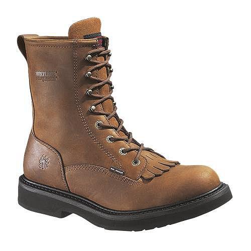 Wolverine Ingham Durashocks 8' Kiltie Steel Toe Boot $ 99.99