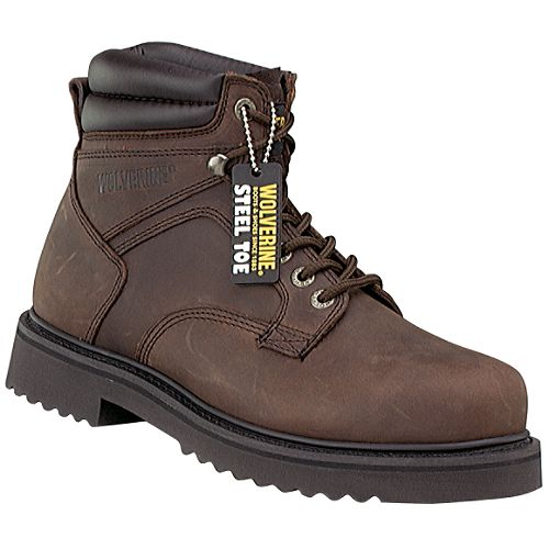 Wolverine 6 in. Steel Toe Boot, Brown $ 64.99