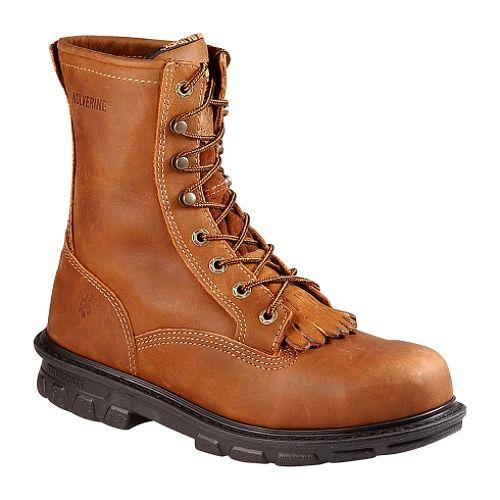Wolverine Men's MultiShox 8' Kiltie Lacer Steel Toe Boot 4448 - Brown $ 134.99