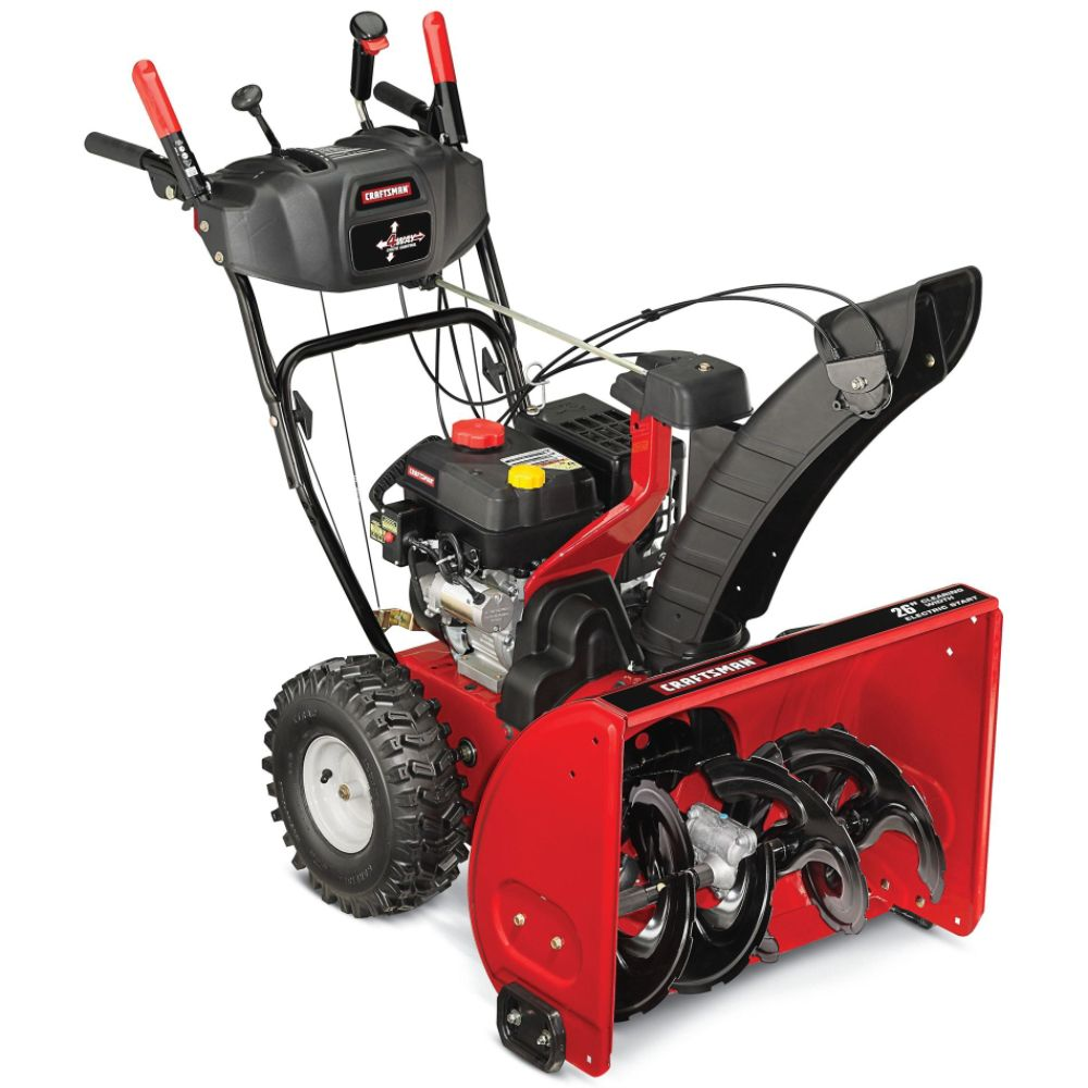 Two Stage Blower : Snow blower craftsman cc two stage thrower perfect