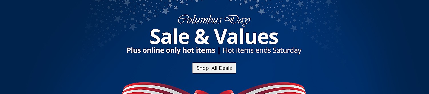 Columbus Day hot buys