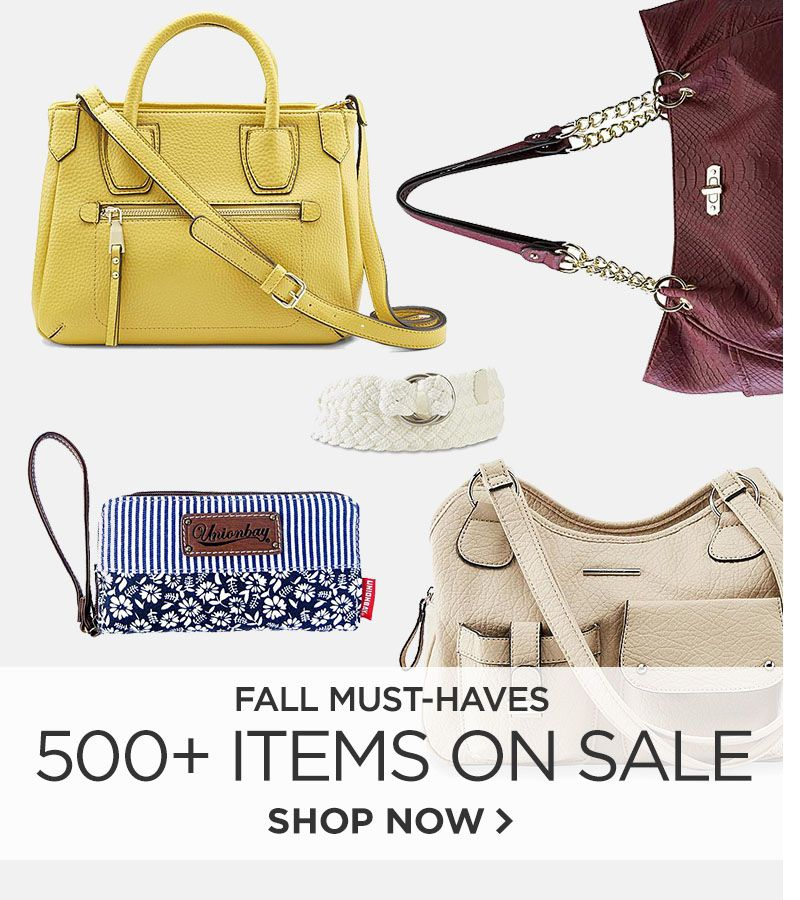 Fall Must Haves. 500+ Items on Sale.