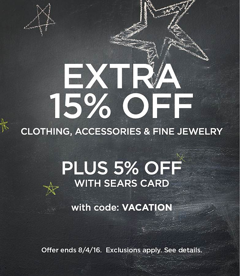 Extra 15% Off Clothing, Accessories & Fine Jewelry