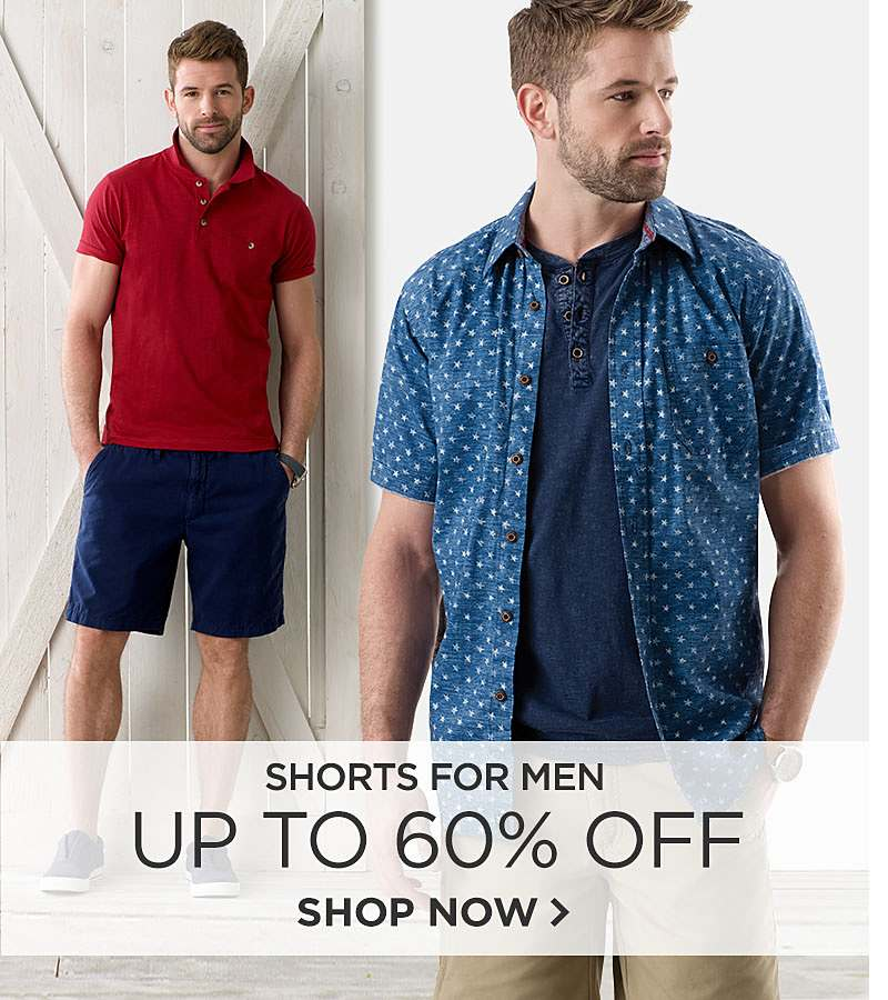Up to 60% off Shorts for Men