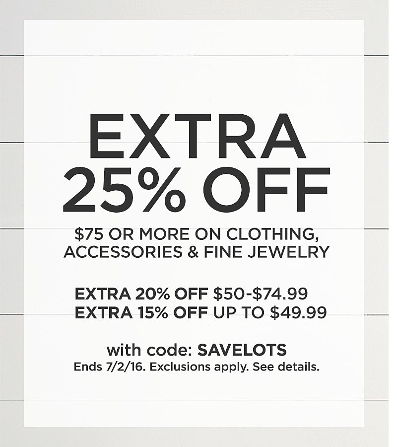 Extra 25% Off $75 Or More