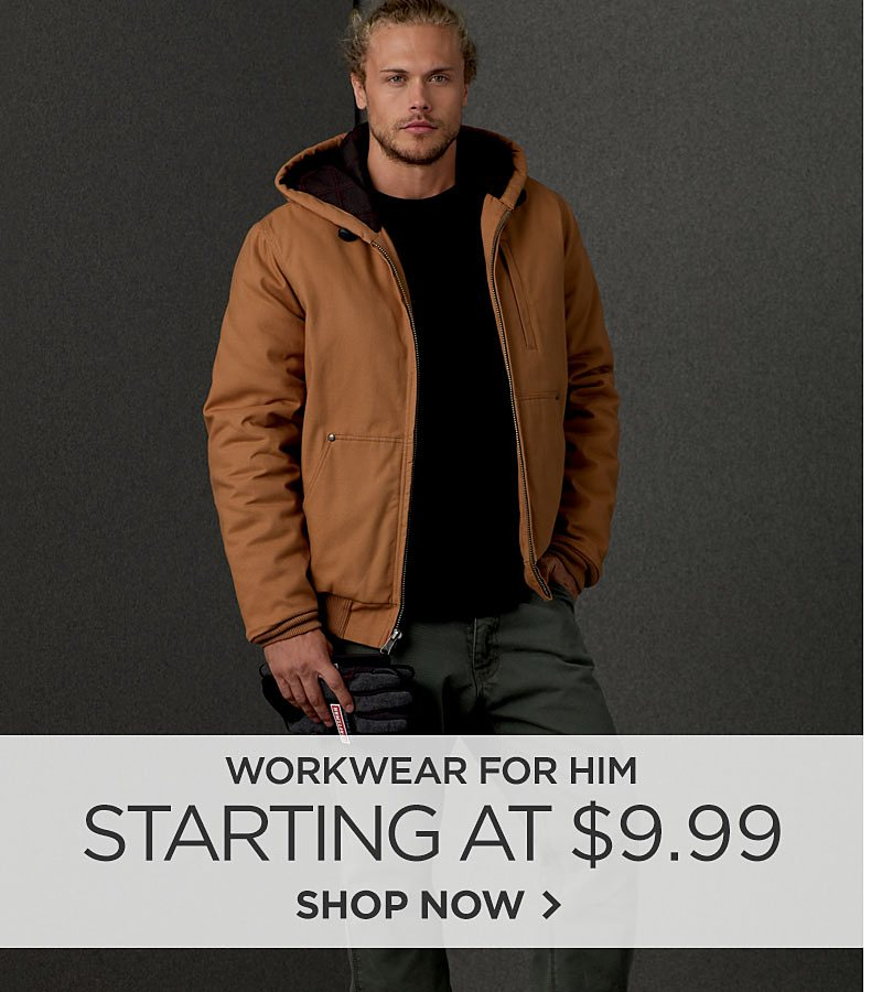 Workwear for Men Starting at $9.99