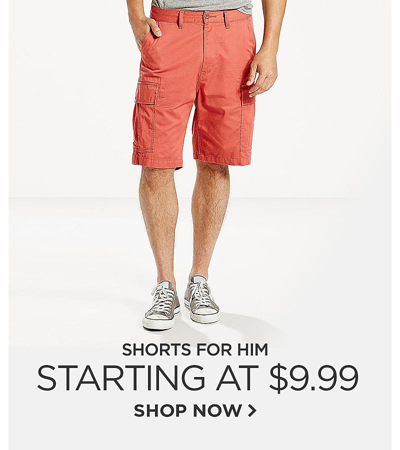 Shorts Starting at $9.99