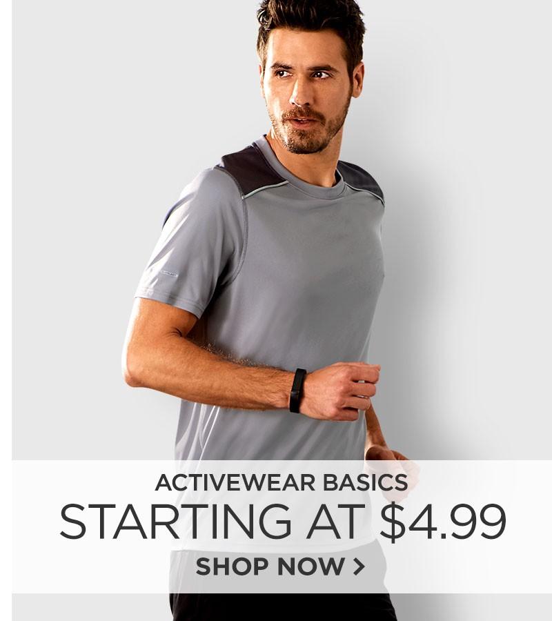 Activewear Basics Starting at $4.99