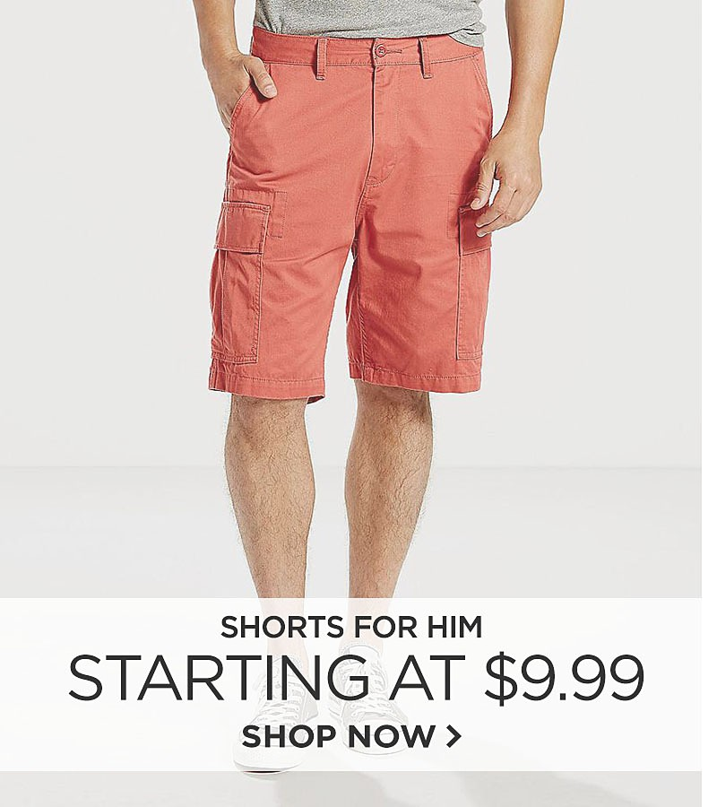 Shorts Starting at $9.99