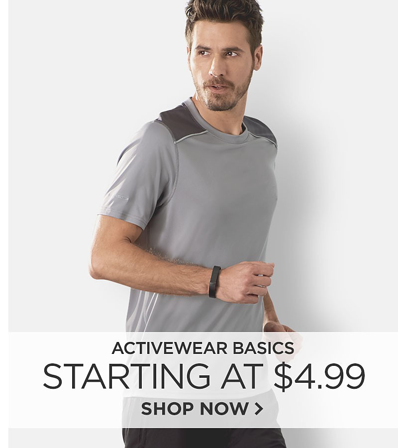 Activewear Basics Starting at $4.99