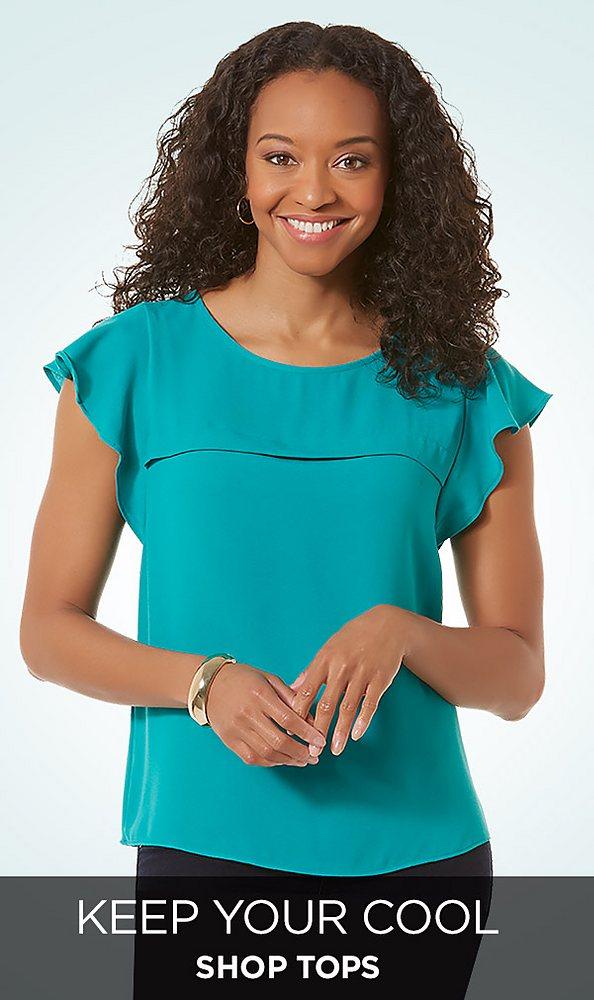 Petite tops&#x3b; blouses&#x3b; button down&#x3b; t-shirt