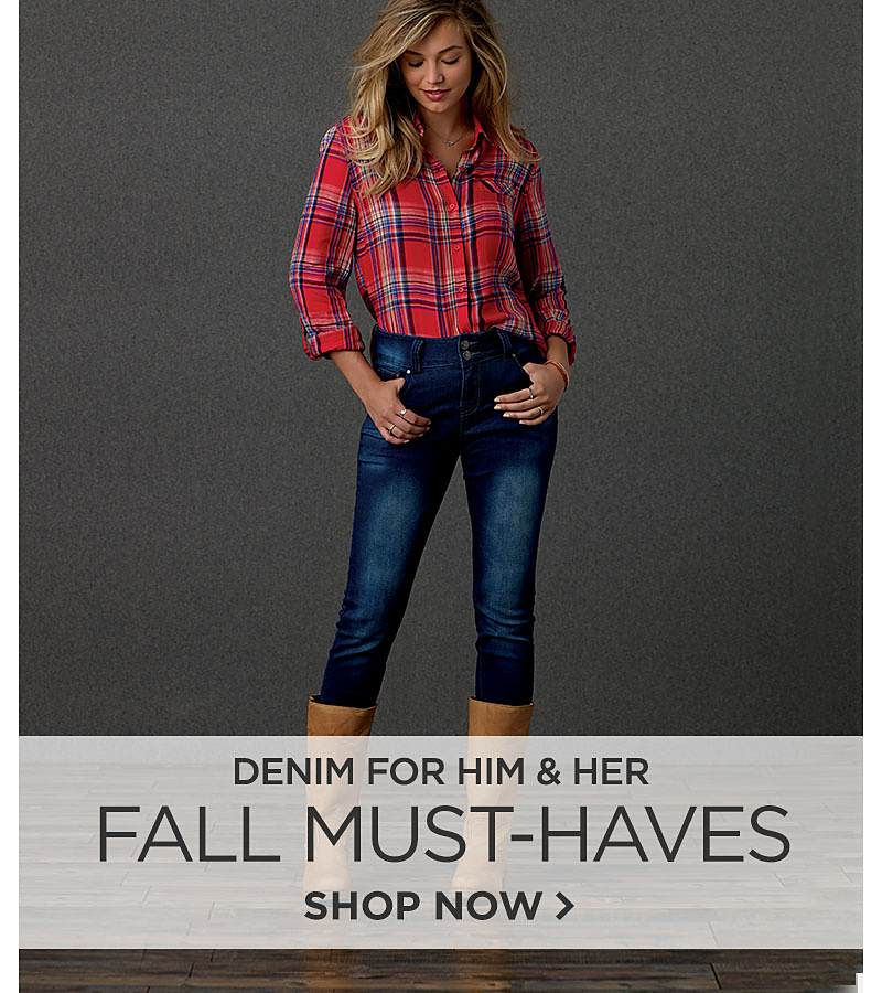 Fall Must Haves. Denim for Him and Her.