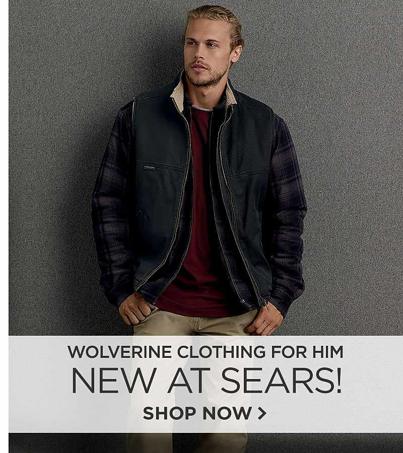 New at Sears! Wolverine Clothing for Him