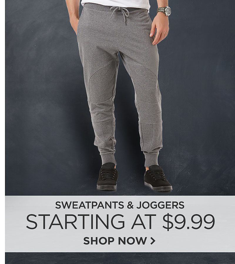 Sweatpants & Joggers Starting At $9.99