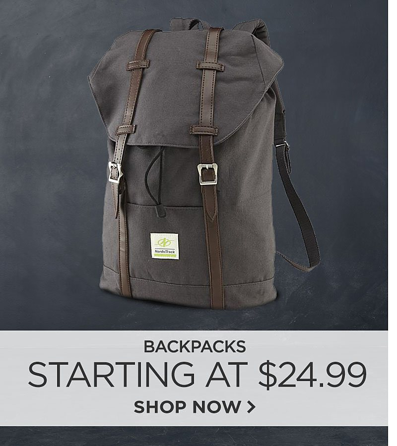 Backpacks Starting at $24.99