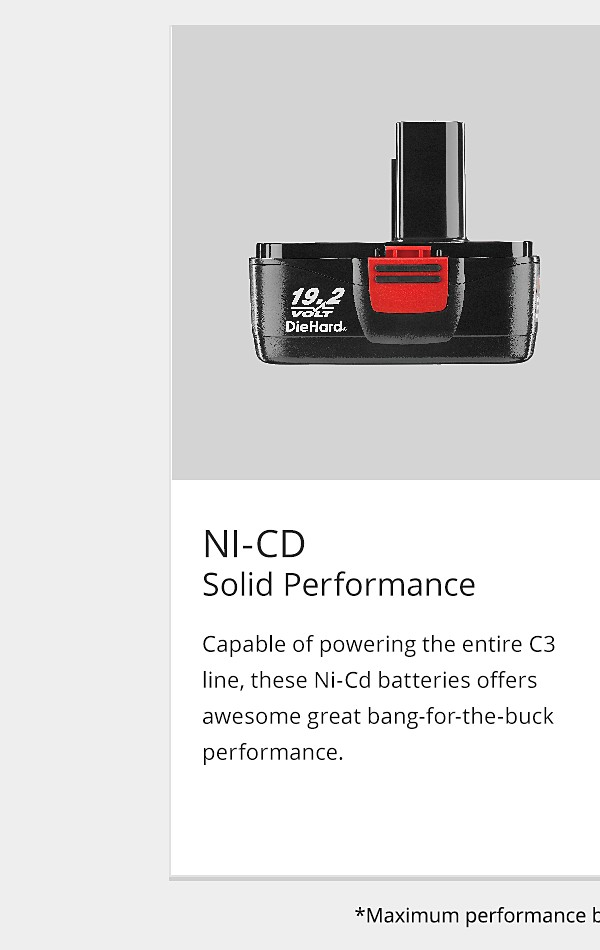 NI-CD Battery Solid Performance