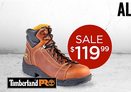 All men's work boots on sale!
