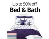 Up to 50% off Bed & Bath