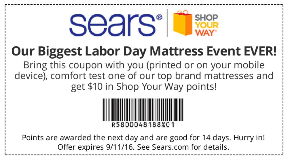 Sears Deals & Coupons Find what you need for your home, car, toolshed and more when you shop with Sears coupon codes. And f or even more savings, join the Shop Your Way loyalty program to earn points and get access to exclusive deals and promotions/5(21).