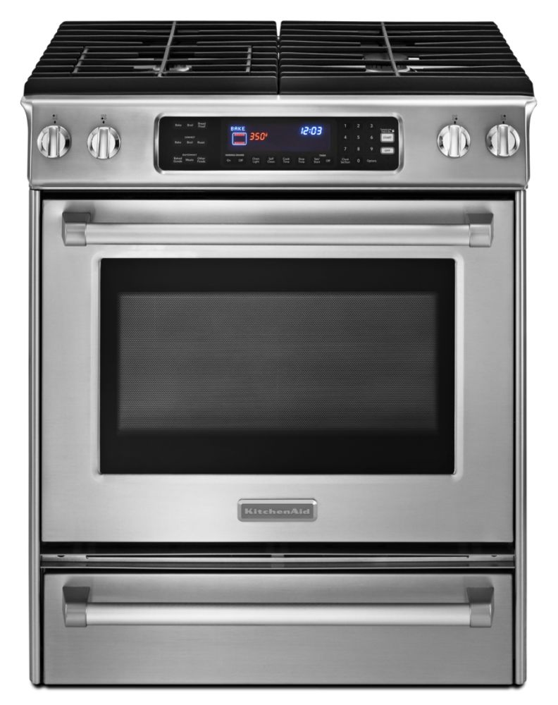 KitchenAid 30 in. Pro-Line™ Slide-In Dual Fuel Range Stainless Steel